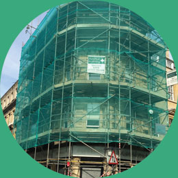 Scaffold sheeting and netting